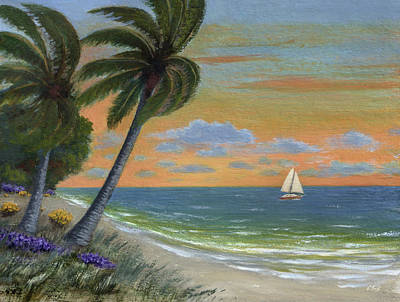 Poster featuring the painting Tropic Breeze by Gordon Beck