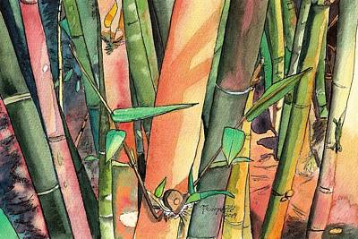 Tropical Bamboo Poster
