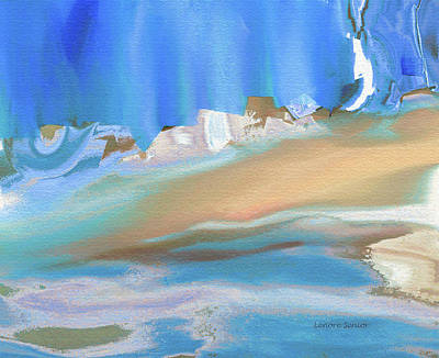 Tropical Beach Abstract Poster