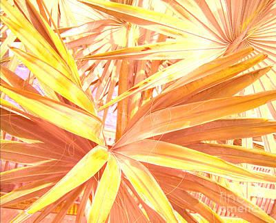 Tropical Dreams In Pastel Apricot Poster by Susanne Van Hulst