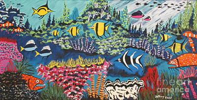 Tropical Fish Colors Poster
