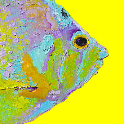 Tropical Fish For Bathroom Decor Poster by Jan Matson
