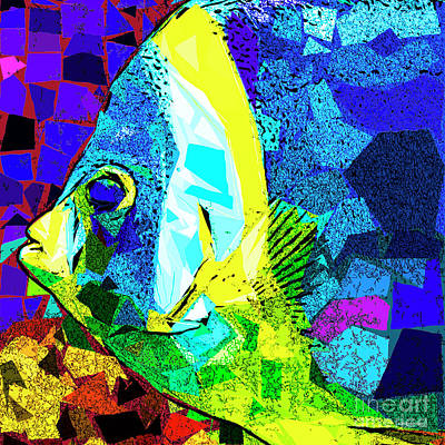 Poster featuring the photograph Tropical Fish In Abstract 20170325v3 Square by Wingsdomain Art and Photography