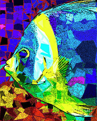 Poster featuring the photograph Tropical Fish In Abstract 20170325v3 by Wingsdomain Art and Photography