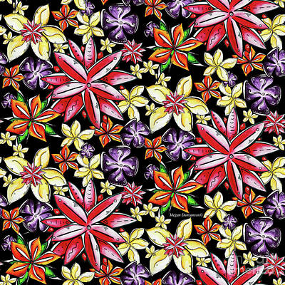 Tropical Floral Colorful Pattern Fun And Unique By Megan Duncanson Poster