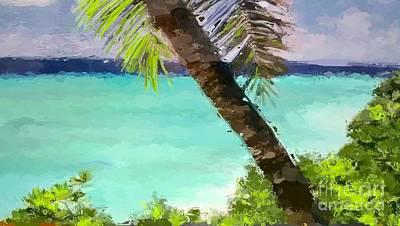 Tropical Hawaiian Palm Poster