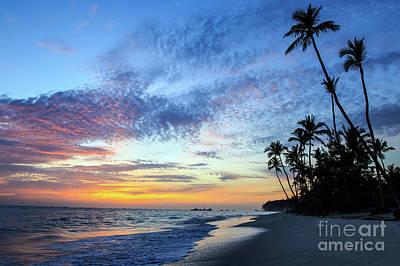 Tropical Island Sunrise Poster