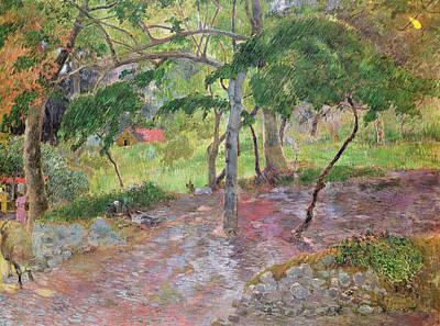 Tropical Landscape Poster by Paul Gauguin