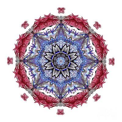 Tropical Mandala By Kaye Menner Poster