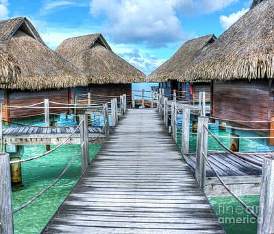Tropical Resort Paradise Seascape Florida Keys 01 Poster