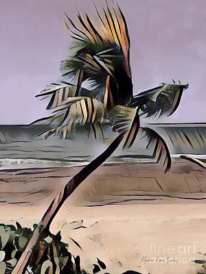 Poster featuring the digital art Tropical Seascape Digital Art A7717  by Mas Art Studio