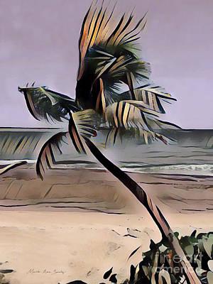 Poster featuring the digital art Tropical Seascape Digital Art A7717l by Mas Art Studio