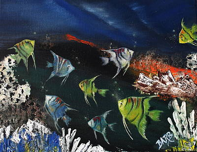 Tropical Seaworld Poster by Barbara Teller
