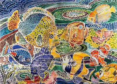 Tropical Splendor Batik Poster