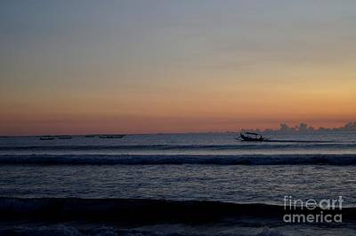 Tropical Sunset On Beach Of Indian Ocean Poster