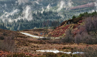 Poster featuring the photograph Trossachs National Park In Scotland by Jeremy Lavender Photography