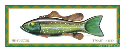 Trout Ice Fishing Decoy Poster