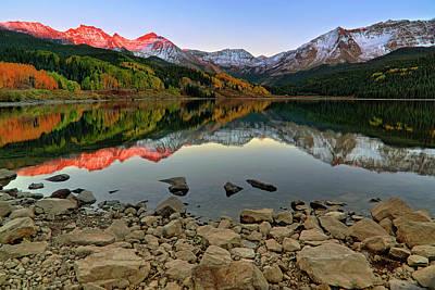 Trout Lake Reflections - Colorado - Rocky Mountains Poster by Jason Politte