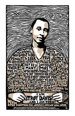 Troy Davis Poster by Ricardo Levins Morales