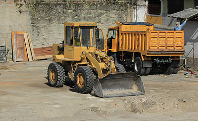 Truck And Loader Poster