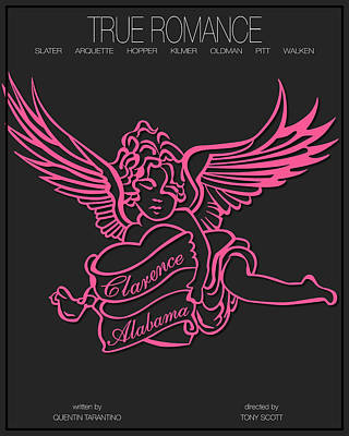 True Romance - Pink Poster by Finlay McNevin
