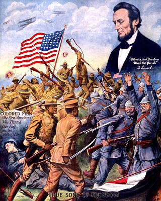 True Sons Of Freedom, African American Poster by Everett
