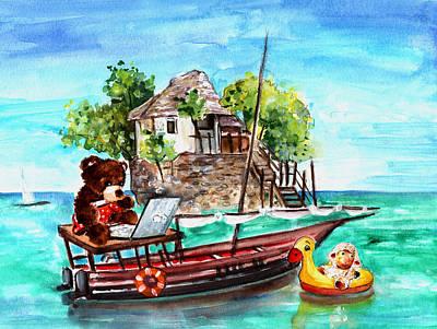 Truffle Mcfurry And Mary In Zanzibar Poster by Miki De Goodaboom