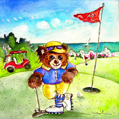 Truffle Mcfurry On The Golf Course In Mojacar Poster by Miki De Goodaboom