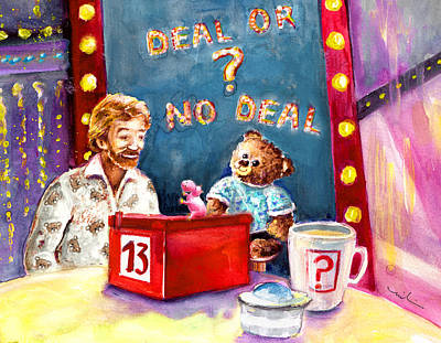 Truffle Mcfurry Playing Deal Or No Deal Poster by Miki De Goodaboom