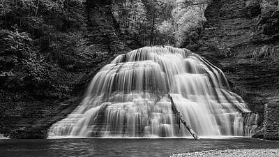 Truman Lower Falls - Bw Poster