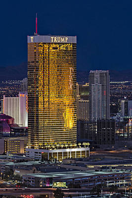 Trump International Hotel Las Vegas Poster by Susan Candelario