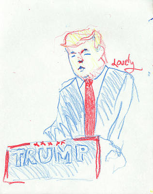 Trump Jan 6 2016 Poster by Candace Lovely