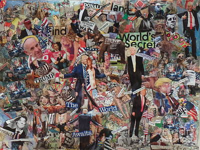 Trump Stirs Up The U.s. Elections Poster by Barb Greene mann