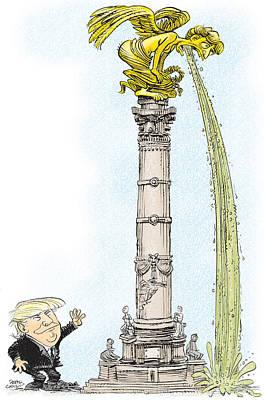 Trump Visits Mexico Poster