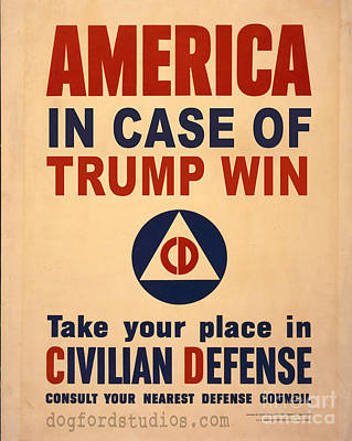 Trump Win Warning Poster by Edward Fielding
