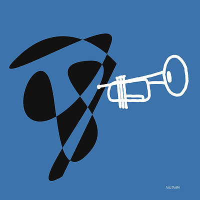 Trumpet In Blue Poster