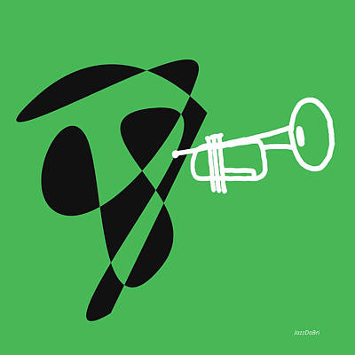 Trumpet In Green Poster