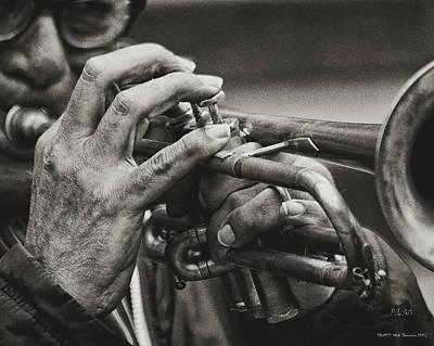 Trumpet Solo Poster by Pedro L Gili