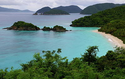Poster featuring the photograph Trunk Bay At U.s. Virgin Islands National Park by Jetson Nguyen