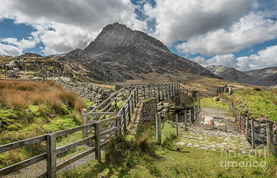 Tryfan And The Ogwen Valley Poster by Adrian Evans