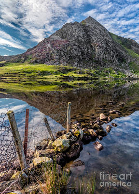 Tryfan Reflections Poster by Adrian Evans