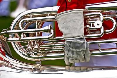 Tuba Player. Usmc Band Poster