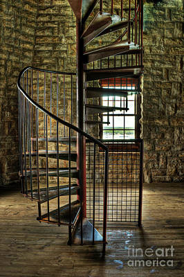Poster featuring the photograph Tucker's Tower Spiral Staircase by Tamyra Ayles