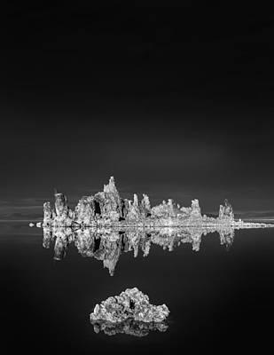 Tufas Reflecting In Mono Lake Poster