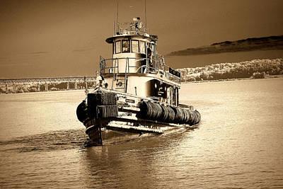 Tug Boat Gowanus Bay At Newburgh Landing - 2009 Poster