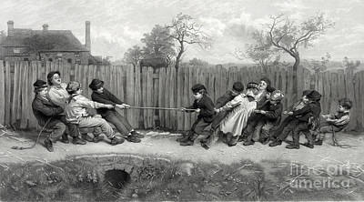 Tug Of War, 1879 Poster by Science Source