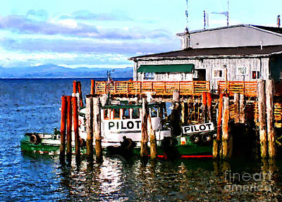 Tugboat At Rest Poster by Methune Hively