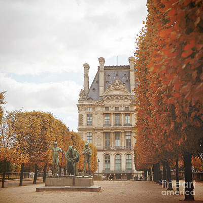 Tuileries Garden In Fall Poster by Ivy Ho