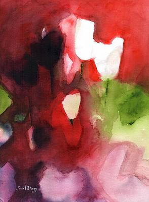 Tulip Abstract Poster by Janel Bragg