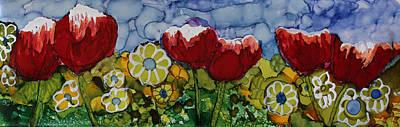 Tulip Bonanza Poster by Suzanne Canner